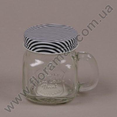 Фото Чашка скляна з кришкою 0,23 л. 35055