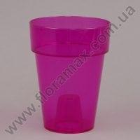 Горщик пластмасовий Стожек для орхідей рожевий 13см.