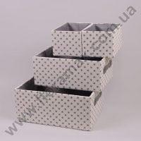 Комплект кошиків з тканини 4 шт. 5107 кремовий