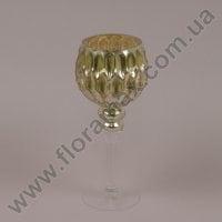 Подсвечник стеклянный шампань 30056
