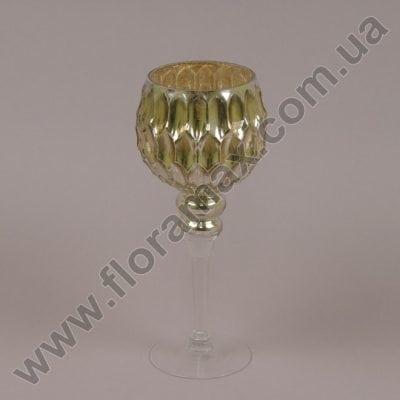 Фото Подсвечник стеклянный шампань 30056