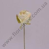 Квітка Троянда пастель біло-зелена 70374
