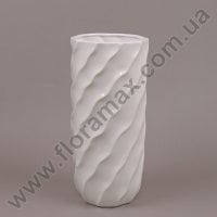 Ваза керамическая белая 26254