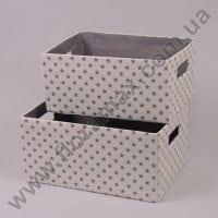 Комплект корзин из ткани 2 шт. 5110 кремовый