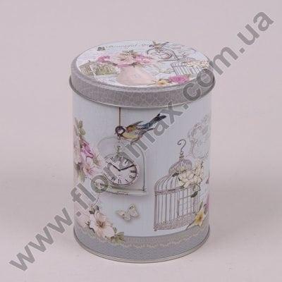 Фото Коробка металева кругла 35088