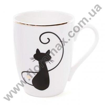 Фото Кружка фарфоровая Влюбленные коты 0,32 л. 28162
