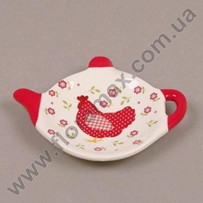 Фото Подставка керамическая для чайных пакетиков Курочка 26373