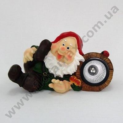Фото Садова фігурка Гном з лампочкою К4.041