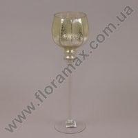Подсвечник стеклянный шампань 30048
