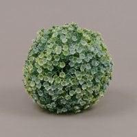 Куля декоративна зелено-біла D-13 см. 70001