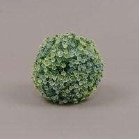 Куля декоративна зелено-біла D-10 см. 70005