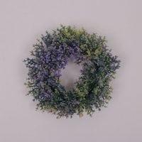 Вінок декоративний зелено-фіолетовий 70591